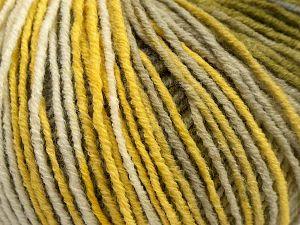 Fiber Content 70% Acrylic, 30% Wool, Yellow Shades, White, Brand Ice Yarns, Green, fnt2-67751