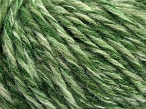 Fiber Content 70% Acrylic, 30% Wool, Brand Ice Yarns, Green Shades, fnt2-67752