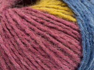 Fiber Content 60% Acrylic, 40% Wool, Rose Brown, Orchid, Olive Green, Brand Ice Yarns, Blue, fnt2-67753