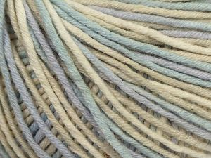 Fiber Content 50% Cotton, 50% Acrylic, Light Lilac, Light Blue, Brand Ice Yarns, Cream Shades, fnt2-67764
