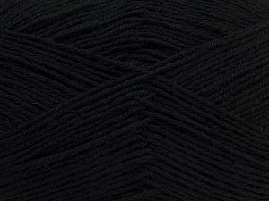 Fiber Content 75% Superwash Wool, 25% Polyamide, Brand Ice Yarns, Black, fnt2-67777