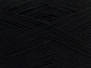 Fiber Content 75% Superwash Wool, 25% Polyamide, Brand Ice Yarns, Black, fnt2-67777