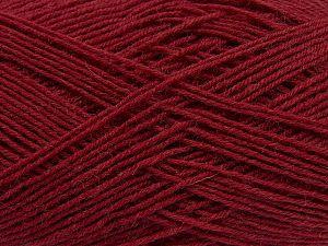 Fiber Content 75% Superwash Wool, 25% Polyamide, Brand Ice Yarns, Dark Red, fnt2-67779