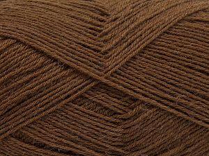 Fiber Content 75% Superwash Wool, 25% Polyamide, Brand Ice Yarns, Dark Brown, fnt2-67802