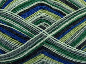 Fiber Content 75% Superwash Wool, 25% Polyamide, Brand Ice Yarns, Grey Shades, Green Shades, Blue, fnt2-67811