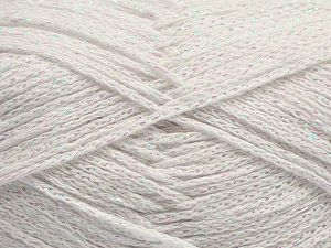 Fiber Content 88% Cotton, 12% Metallic Lurex, White, Iridescent, Brand Ice Yarns, fnt2-67827
