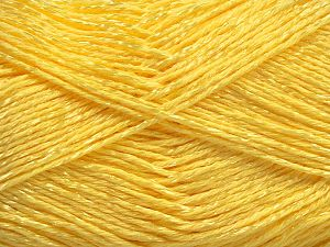 Fiber Content 67% Cotton, 33% Viscose, Light Yellow, Brand Ice Yarns, fnt2-67857