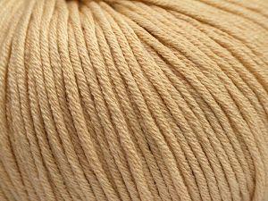 Fiber Content 50% Acrylic, 50% Cotton, Brand Ice Yarns, Dark Cream, fnt2-67907