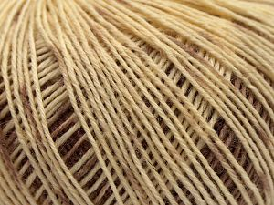 This is a self-striping yarn. Please see package photo for the color combination. Fiber Content 75% Superwash Wool, 25% Polyamide, Rose Brown, Light Khaki, Brand Ice Yarns, Cream, Beige, fnt2-67915