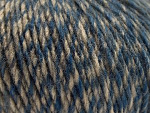 Fiber Content 60% Acrylic, 40% Wool, Brand Ice Yarns, Grey, Brown Shades, Blue, fnt2-67919