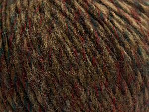 Fiber Content 60% Acrylic, 40% Wool, Red, Brand Ice Yarns, Dark Green, Brown Shades, fnt2-67921
