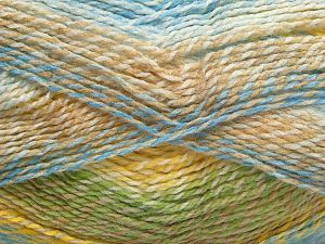 Fiber Content 100% Acrylic, Yellow, White, Turquoise, Brand Ice Yarns, Camel, Blue, fnt2-67935