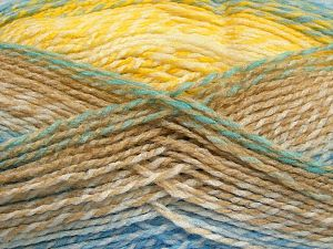 Fiber Content 100% Acrylic, Yellow, White, Brand Ice Yarns, Green, Camel, Blue, fnt2-67936