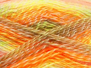 Fiber Content 100% Acrylic, White, Pink, Orange, Brand Ice Yarns, Green, Camel, fnt2-67945