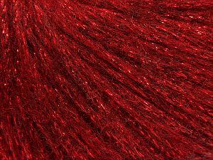 Fiber Content 7% Viscose, 56% Metallic Lurex, 20% Acrylic, 17% Wool, Red, Brand Ice Yarns, fnt2-67960