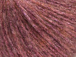 Fiber Content 7% Viscose, 56% Metallic Lurex, 20% Acrylic, 17% Wool, Light Pink, Brand Ice Yarns, fnt2-67962