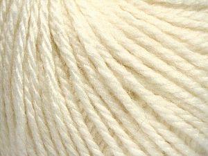 Fiber Content 8% Viscose, 54% Acrylic, 20% Wool, 18% Alpaca, Off White, Brand Ice Yarns, fnt2-67966