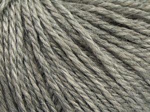 Fiber Content 8% Viscose, 54% Acrylic, 20% Wool, 18% Alpaca, Light Grey, Brand Ice Yarns, fnt2-67967