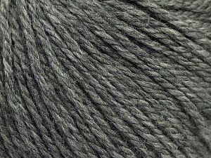 Fiber Content 8% Viscose, 54% Acrylic, 20% Wool, 18% Alpaca, Brand Ice Yarns, Grey, fnt2-67968