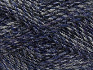 Fiber Content 9% Viscose, 62% Acrylic, 19% Alpaca, 10% Wool, Purple, Brand Ice Yarns, Grey, Black, fnt2-67990