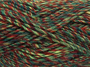 Fiber Content 9% Viscose, 62% Acrylic, 19% Alpaca, 10% Wool, Brand Ice Yarns, Green Shades, Copper, fnt2-67993