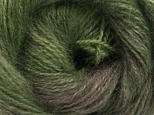 Fiber Content 75% Premium Acrylic, 15% Wool, 10% Mohair, Brand Ice Yarns, Green Shades, Camel, fnt2-67994