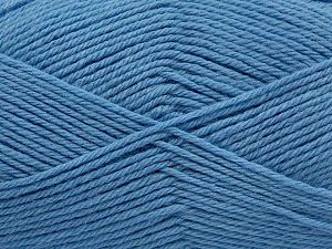 Fiber Content 65% Wool, 20% Acrylic, 15% Polyamide, Brand Ice Yarns, Baby Blue, fnt2-68026
