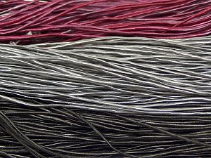 Fiber Content 50% Polyester, 50% Cotton, Brand Ice Yarns, Grey, Fuchsia, Black, fnt2-68060