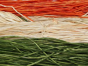 Fiber Content 50% Polyester, 50% Cotton, Orange, Brand Ice Yarns, Green, Cream, fnt2-68061