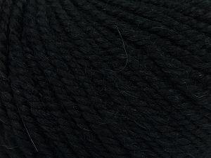 Fiber Content 50% Premium Acrylic, 25% Wool, 25% Alpaca, Brand Ice Yarns, Black, fnt2-68064