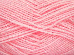 Gauge: 22 stitches and 30 rows on 10 cm x 10 cm (4& x 4&) Fiber Content 89% Acrylic, 11% Viscose, Light Pink, Brand Ice Yarns, fnt2-68089