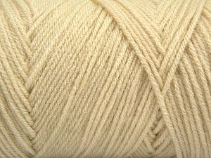 Items made with this yarn are machine washable & dryable. Fiber Content 100% Dralon Acrylic, Brand Ice Yarns, Dark Cream, fnt2-68090