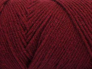 Items made with this yarn are machine washable & dryable. Fiber Content 100% Dralon Acrylic, Brand Ice Yarns, Burgundy, fnt2-68094
