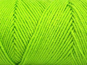 Items made with this yarn are machine washable & dryable. Fiber Content 100% Dralon Acrylic, Neon Green, Brand Ice Yarns, fnt2-68096