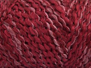 Gauge: 14 stitches and 20 rows on 10 cm x 10 cm (4& x 4&) Fiber Content 98% Acrylic, 2% Polyester, Light Pink, Brand Ice Yarns, Burgundy, Black, fnt2-68097