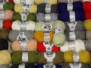 Tube Cotton Fine In this list; you see most recent 50 mixed lots. <br> To see all <a href=&/mixed_lots/o/4#list&>CLICK HERE</a> (Old ones have much better deals)<hr> Fiber Content 67% Cotton, 33% Polyamide, Brand Ice Yarns, fnt2-68115