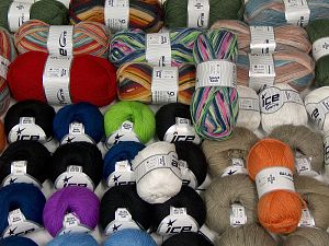 Luxury Yarns In this list; you see most recent 50 mixed lots. <br> To see all <a href=&/mixed_lots/o/4#list&>CLICK HERE</a> (Old ones have much better deals)<hr> Brand Ice Yarns, fnt2-68126