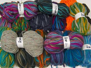 Winter Yarns The item is 80 meters per 100 grams. In this list; you see most recent 50 mixed lots. <br> To see all <a href=&/mixed_lots/o/4#list&>CLICK HERE</a> (Old ones have much better deals)<hr> Fiber Content 80% Acrylic, 20% Wool, Brand Ice Yarns, fnt2-68143