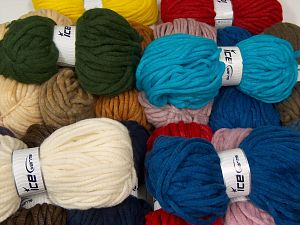 Winter Yarns The item is 80 meters per 100 grams. In this list; you see most recent 50 mixed lots. <br> To see all <a href=&/mixed_lots/o/4#list&>CLICK HERE</a> (Old ones have much better deals)<hr> Fiber Content 80% Acrylic, 20% Wool, Brand Ice Yarns, fnt2-68145