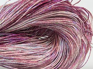 Please note that this is a spray-painted yarn. Colors in different lots may vary because of the charateristics of the yarn. Also see the package photos for the colorway in full; as skein photos may not show all colors. Fiber Content 60% Metallic Lurex, 40% Cotton, Purple, Pink Shades, Brand Ice Yarns, fnt2-68169