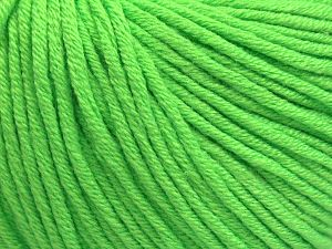 Fiber Content 50% Acrylic, 50% Cotton, Neon Green, Brand Ice Yarns, fnt2-68195