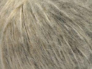 Fiber Content 55% Acrylic, 23% Nylon, 22% Wool, Brand Ice Yarns, Grey Shades, Cream, fnt2-68206
