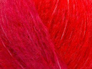 Fiber Content 55% Acrylic, 23% Nylon, 22% Wool, Red, Light Pink, Brand Ice Yarns, fnt2-68230