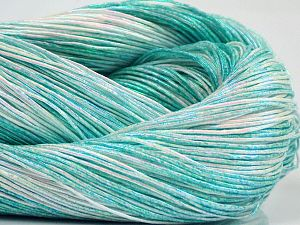Please note that this is a spray-painted yarn. Colors in different lots may vary because of the charateristics of the yarn. Also see the package photos for the colorway in full; as skein photos may not show all colors. Fiber Content 60% Metallic Lurex, 40% Cotton, Brand Ice Yarns, Green Shades, fnt2-68232