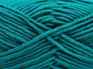 Fiber Content 50% Acrylic, 50% Merino Wool, Brand Ice Yarns, Emerald Green, Yarn Thickness 5 Bulky  Chunky, Craft, Rug, fnt2-68239
