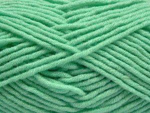 Fiber Content 50% Acrylic, 50% Merino Wool, Mint Green, Brand Ice Yarns, Yarn Thickness 5 Bulky  Chunky, Craft, Rug, fnt2-68240
