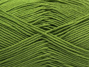 Fiber Content 100% Cotton, Pistachio Green, Brand Ice Yarns, Yarn Thickness 2 Fine  Sport, Baby, fnt2-68245