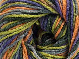 Fiber Content 55% Cotton, 45% Acrylic, Purple, Orange, Brand Ice Yarns, Green, Yarn Thickness 3 Light DK, Light, Worsted, fnt2-68247