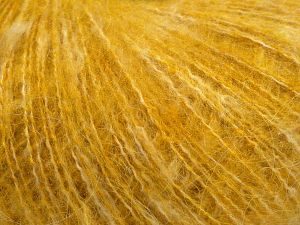 Fiber Content 40% Acrylic, 25% Wool, 25% Cotton, 10% Nylon, Brand Ice Yarns, Gold Melange, fnt2-68281