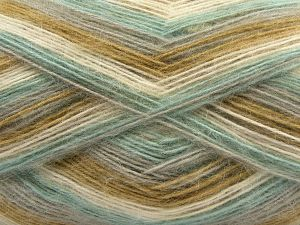 Fiber Content 50% Acrylic, 32% Wool, 18% Angora, Mint, Light Grey, Light Camel, Brand Ice Yarns, Cream, fnt2-68342